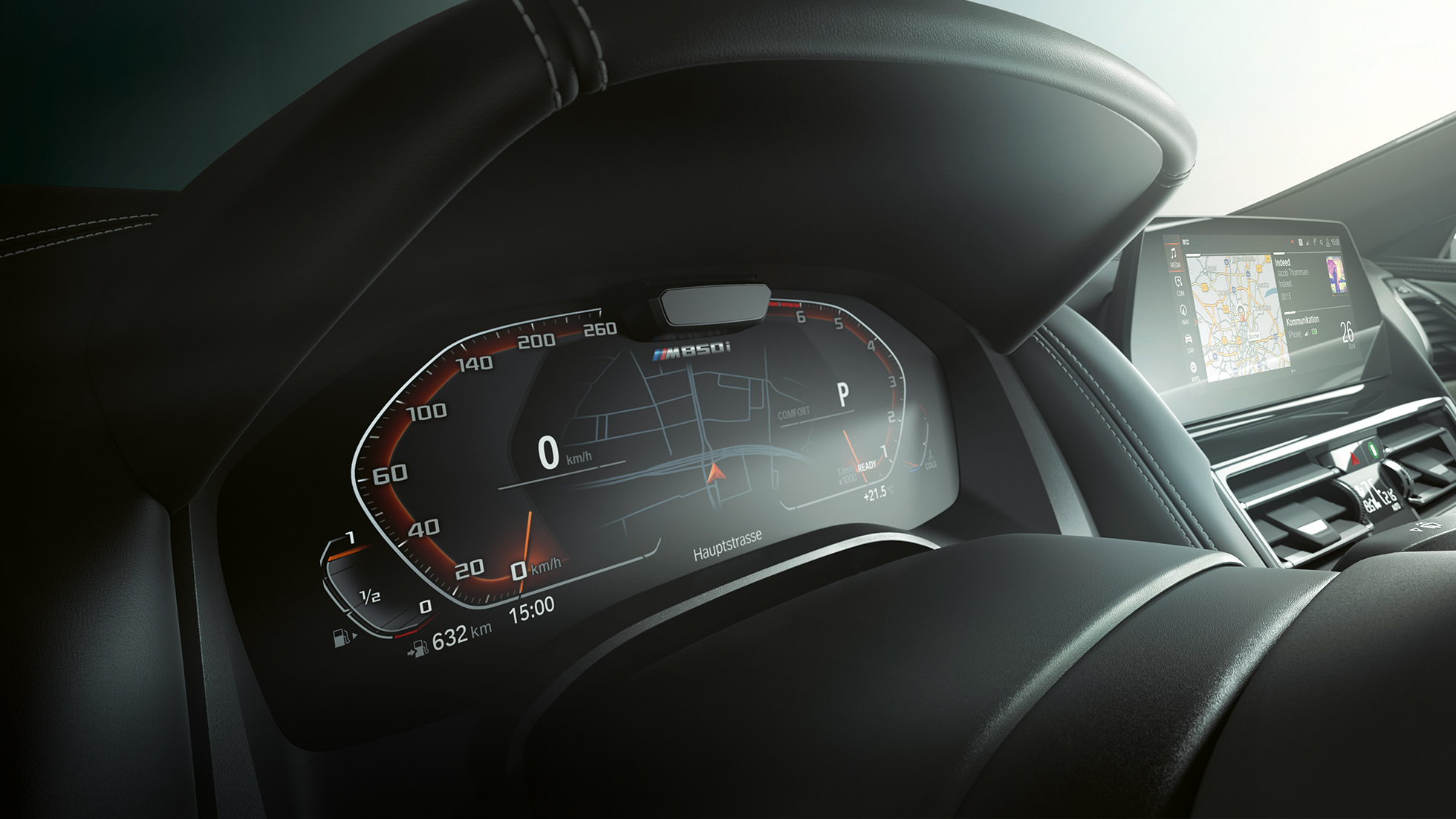 BMW M850i xDrive, instrument cluster, Driving Assistant Plus.