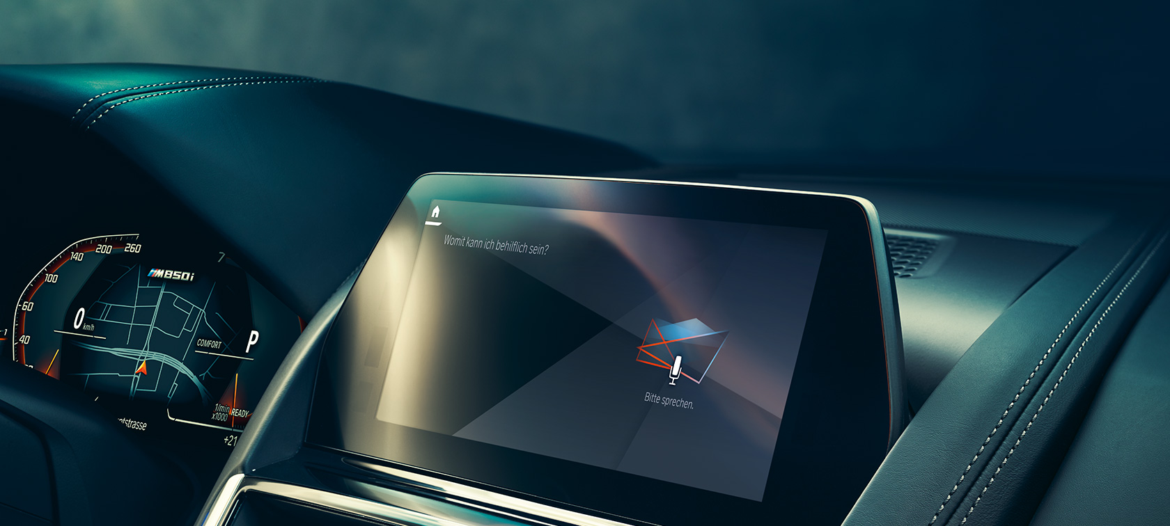 BMW Intelligent Personal Assistant screen in Control Display